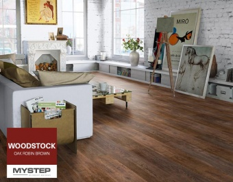 "Ламинат Tarkett WOODSTOCK ""Oak Robin Brown"""