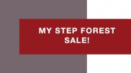 My Step Forest - акция продлена!